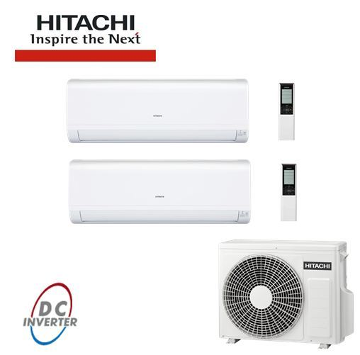 Aer Conditionat MULTISPLIT HITACHI INVERTER 2 X 7000 BTU/h