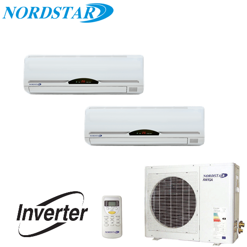 Aer Conditionat MULTISPLIT INVERTER  NORDSTAR  2 x 9000 BTU/H