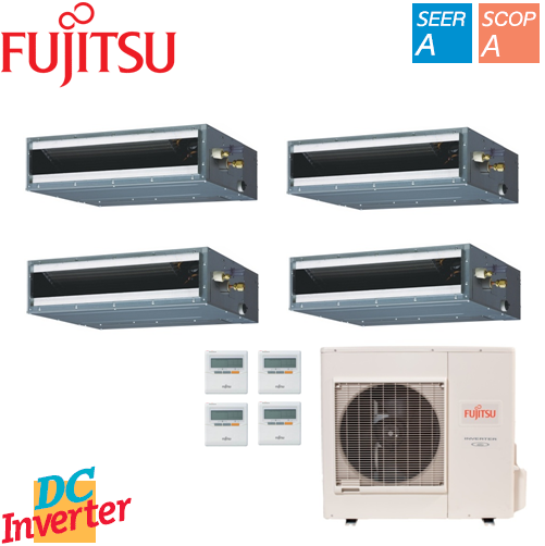 Aer Conditionat MULTISPLIT FUJITSU INVERTER DUCT 4 x 9000 BTU/h