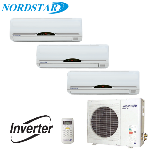 Aer Conditionat MULTISPLIT INVERTER NORDSTAR 2 x 9000 BTU + 1 x 12000 BTU